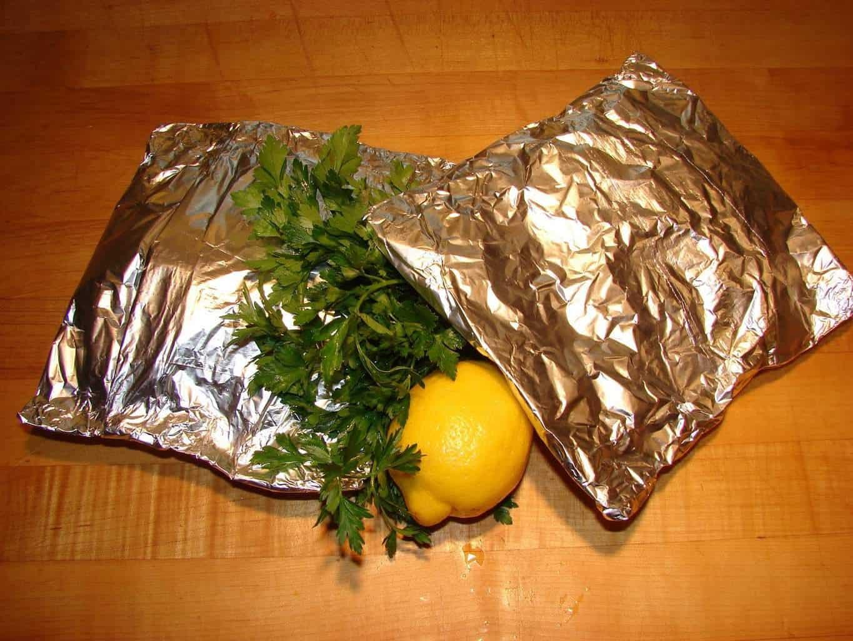Lemon Garlic Tilapia Fish Packets