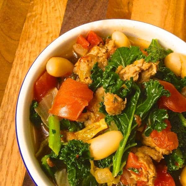 Sausage, Kale and Bean Soup - The Lemon Bowl