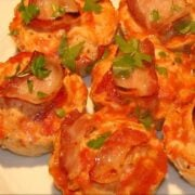 Turkey Meatloaf Muffins with Bacon