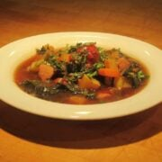 Chicken Soup with Delicata Squash and Kale