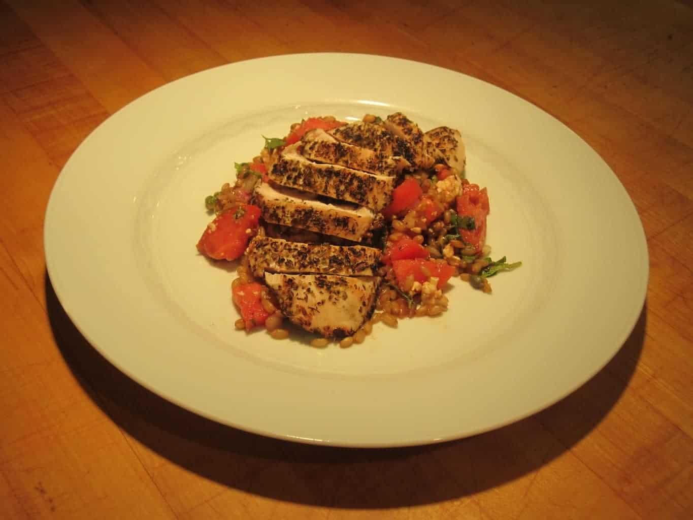 Wheat Berry Tomato Basil Salad