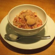Steel Cut Oats with Apples, Walnuts and Flax