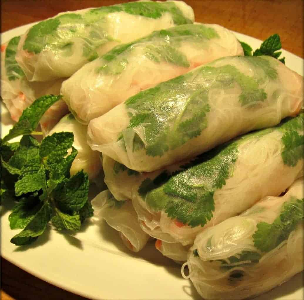 Vietnamese Spring Rolls with Shrimp