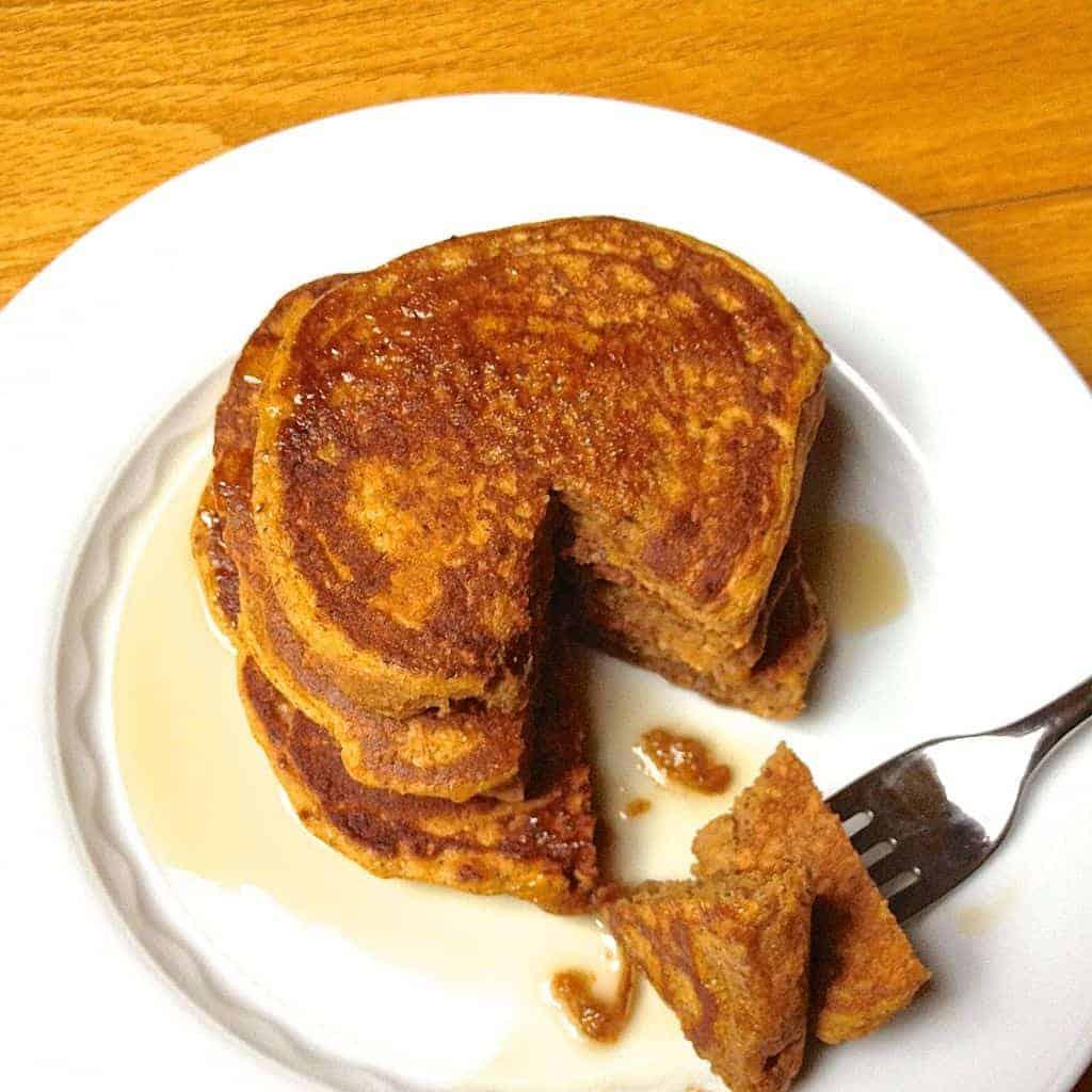Whole Wheat Pumpkin Pancakes - The Lemon Bowl