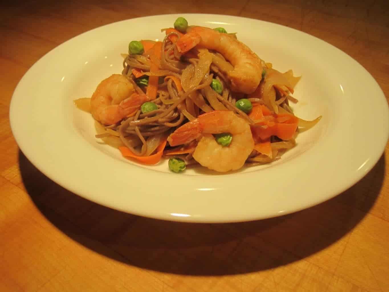 Shrimp and Soba Noodles