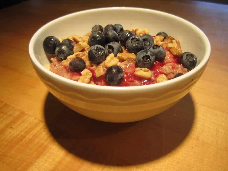 Raspberry Vanilla Swirl Oatmeal