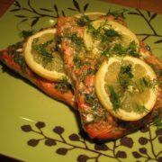 Garlic and Dill Roasted Salmon