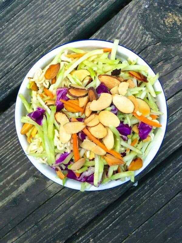 Asian Ramen Broccoli Slaw - The Lemon Bowl