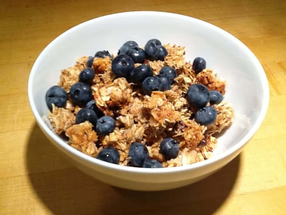 Peanut Butter and Flax Granola