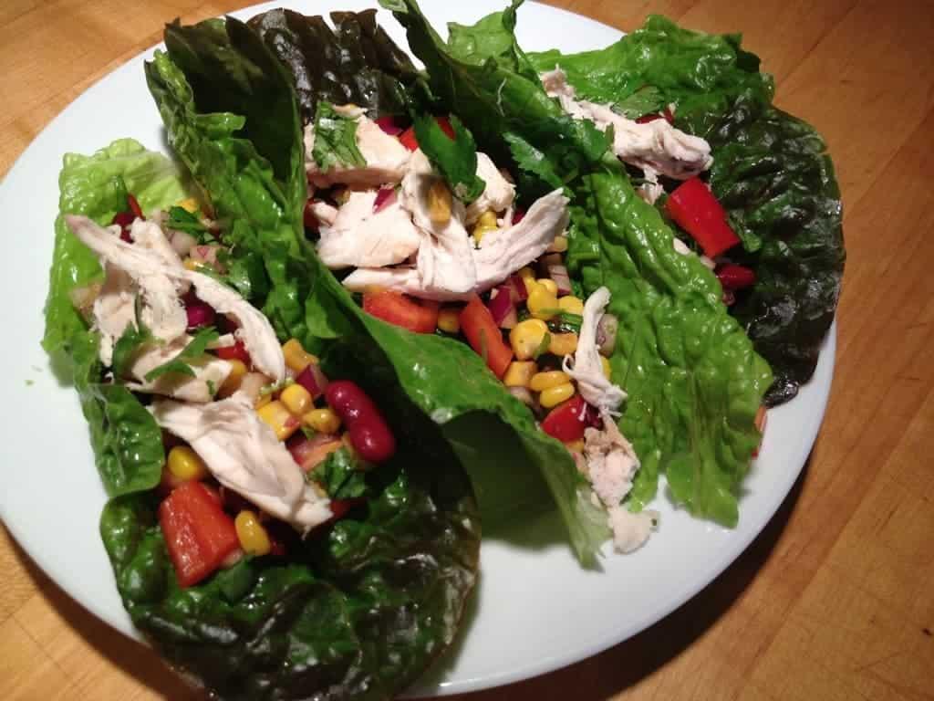 Southwest Chicken Lettuce Wrap