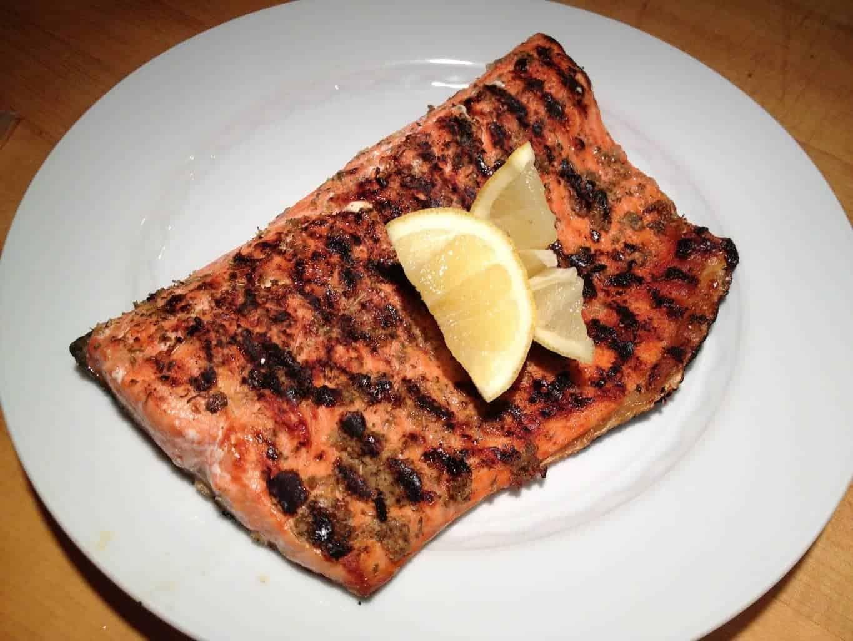 Salmon with Lemon and Oregano