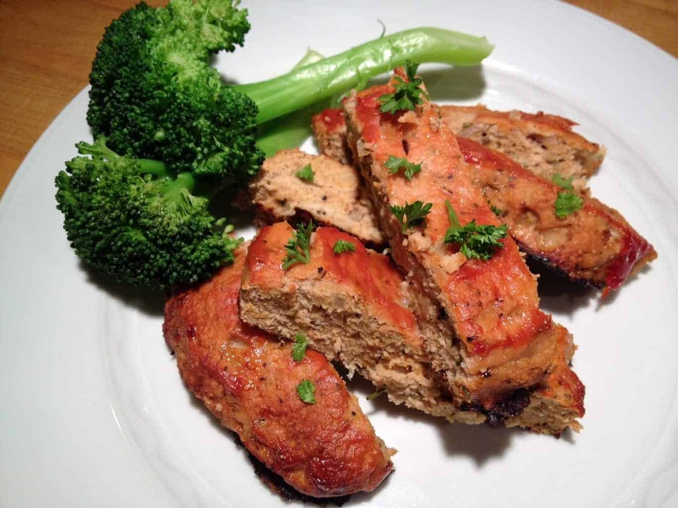 Healthy Turkey Meatloaf With Rosemary