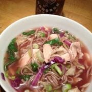 Asian Chicken Soup with Soba Noodles