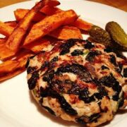 Turkey Burgers with Spinach