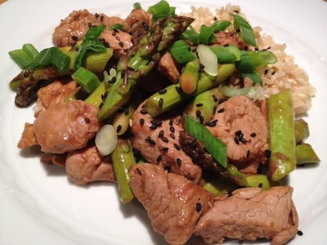 Pork & Asparagus Stir Fry