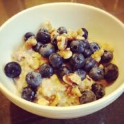 Steel Cut Oats with Blueberries and Walnuts