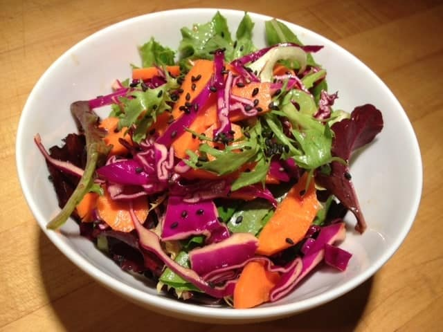 Green Salad with Sesame Ginger Vinaigrette