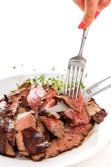 garlic soy marinated flank steak