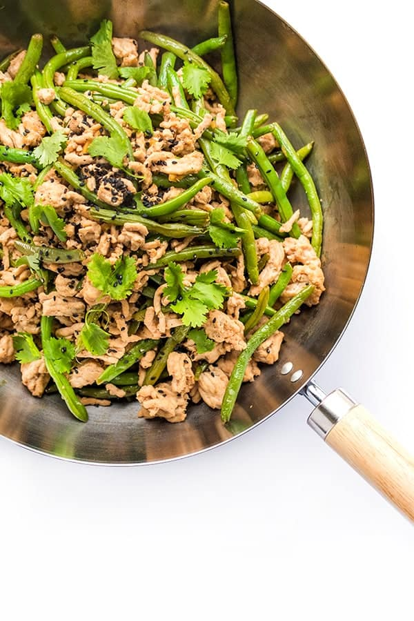 Szechuan Ground Turkey and Green Beans - a healthy dinner recipe
