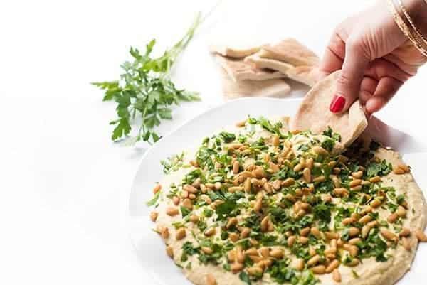 Easy Hummus Recipe - a traditional Lebanese appetizer dip recipe