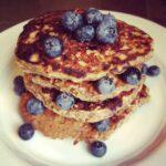Oatmeal Protein Powder Blueberry Pancakes