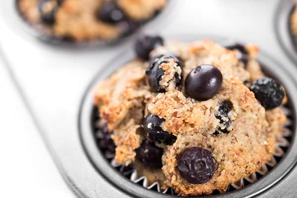 Gluten Free Almond Flour Berry Muffins Recipe