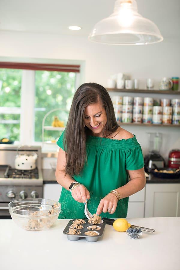 Liz Making Muffins