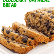Blueberry oatmeal bread pin