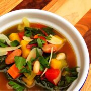 Vegetable Bean Soup with Greens