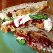 Cranberry Basil Turkey Sandwich