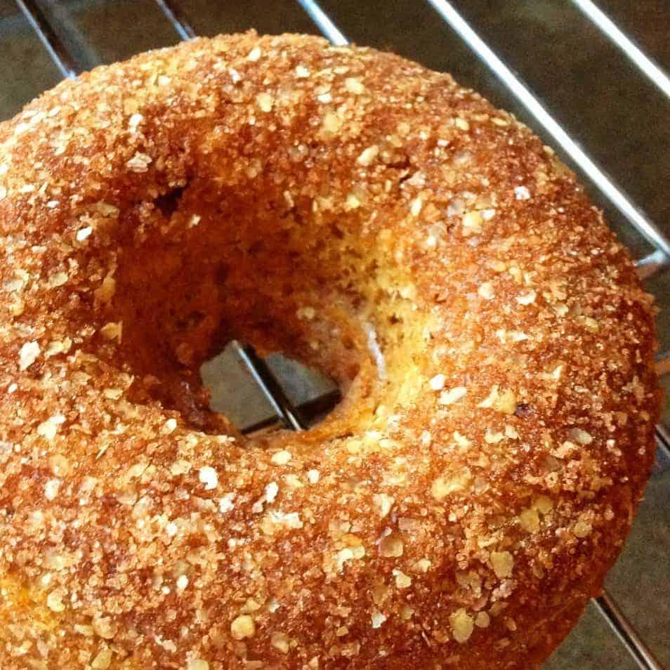 pumpkin spiced doughnut - baked