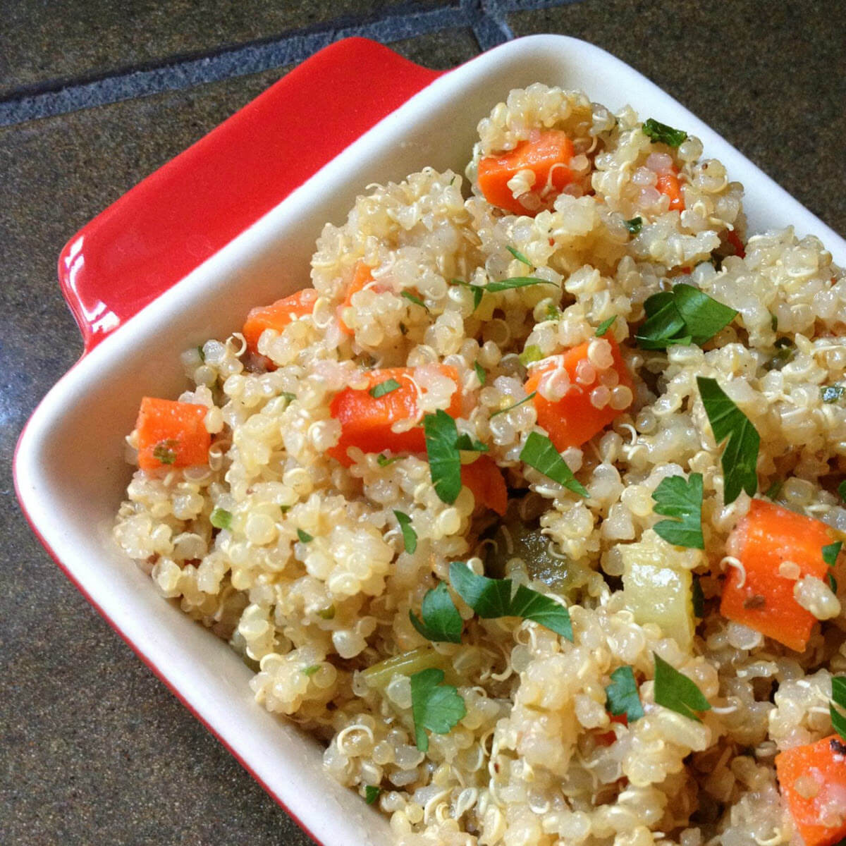 Quinoa Pilaf With Mirepoix The Lemon Bowl