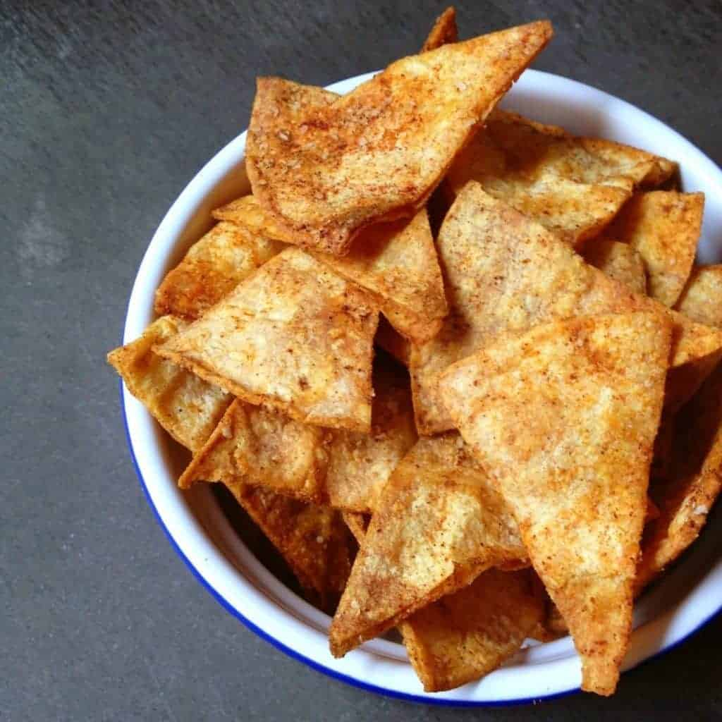 Smoky Baked Corn Tortilla Chips - The Lemon Bowl