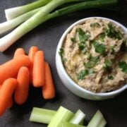 Creamy Roasted Eggplant and White Bean Dip - The Lemon Bowl