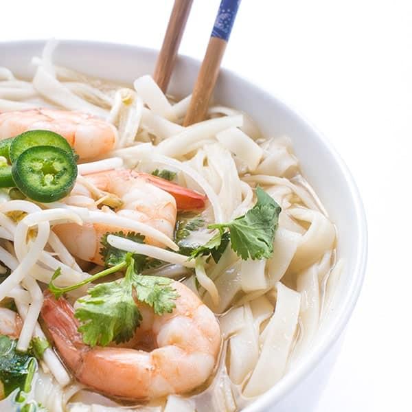 Easy Pho Recipe - a homemade shrimp pho soup