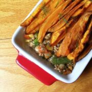 Shepherd's Pie with Sweet Potato Fries - The Lemon Bowl