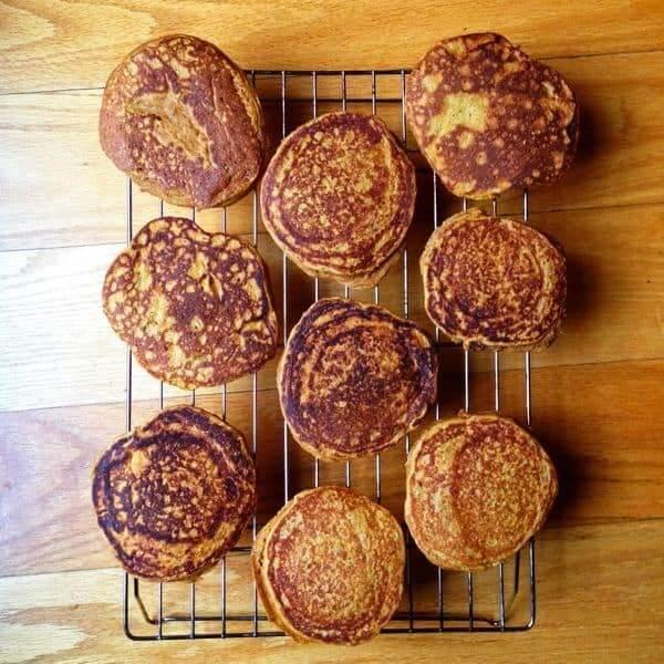Pancakes Cooling On Rack - The Lemon Bowl