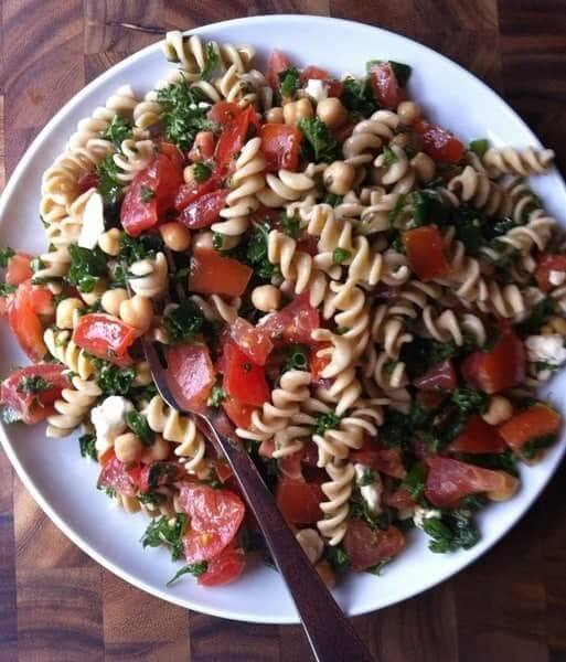 Tabbouleh Whole Wheat Pasta Salad - The Lemon Bowl