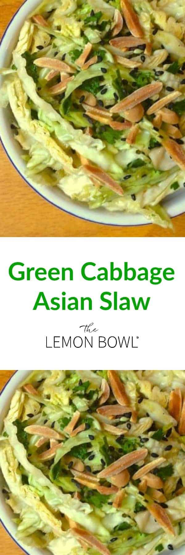 Green Cabbage Asian Slaw