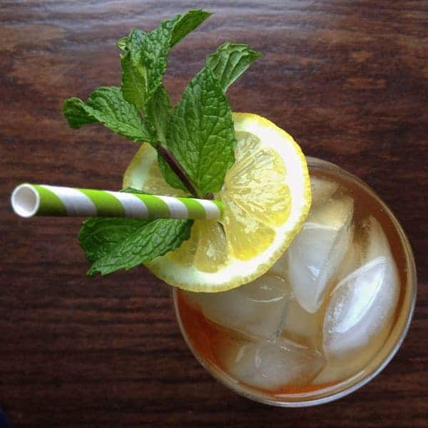 Southern Sweet Tea with Lemon and Mint