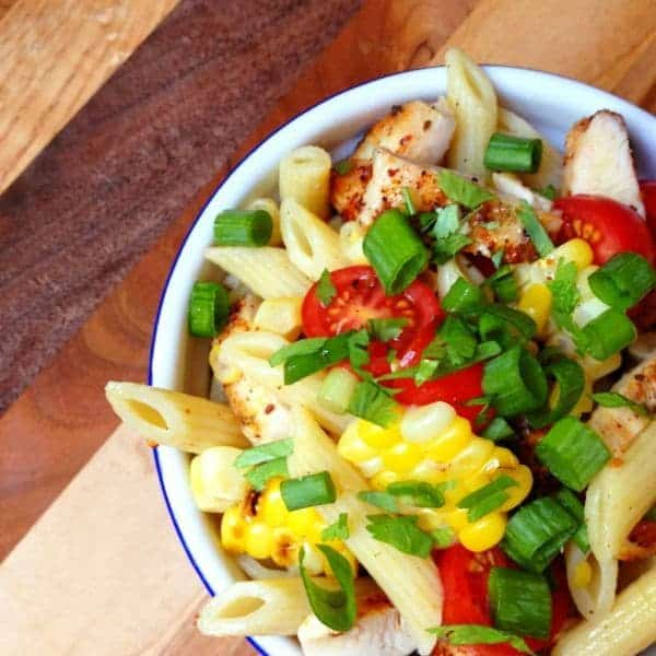 Southwest Grilled Chicken and Corn Pasta Salad - The Lemon Bowl