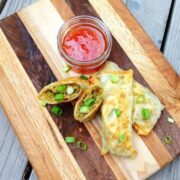 Baked Eggrolls with Bacon and Sweet Chili Dipping Sauce - The Lemon Bowl