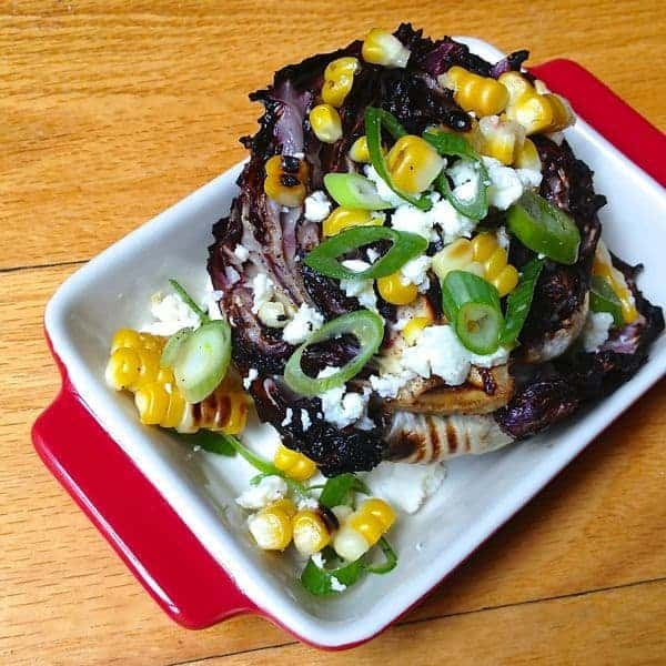 Grilled Radicchio Salad with Queso Fresco and Corn