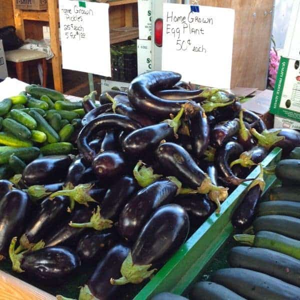 Eggplant at the Farmers Market - The Lemon Bowl