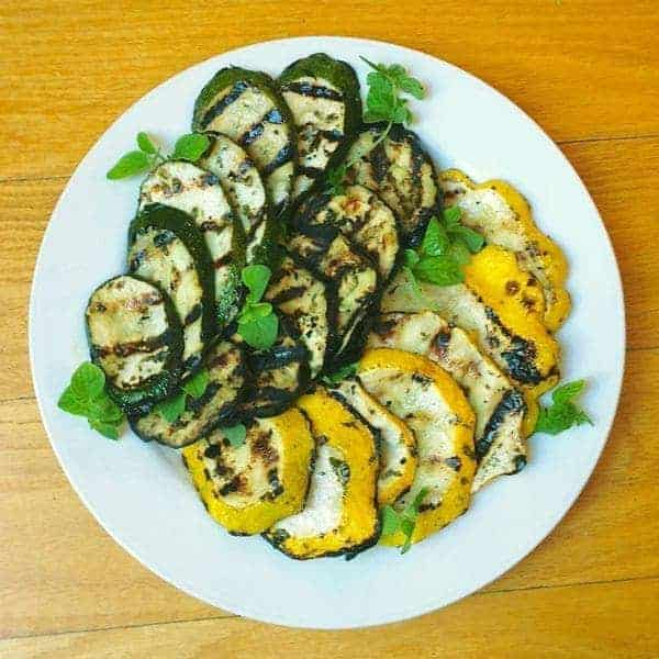 Greek Marinated Grilled Eggplant and Summer Squash - The Lemon Bowl