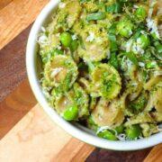 Lemony Pesto Pasta with Peas - The Lemon Bowl