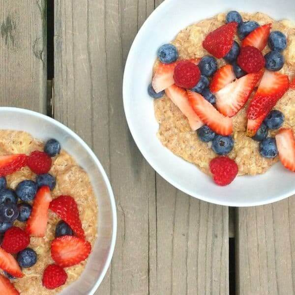 Red White and Blue Oatmeal - The Lemon Bowl