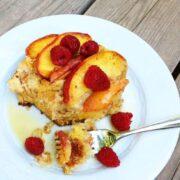 Gluten Free Peach French Toast - The Lemon Bowl