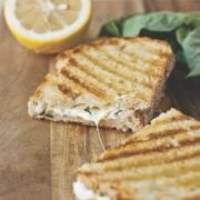 Lemon-Basil Grilled Cheese Panini Square - The Lemon Bowl