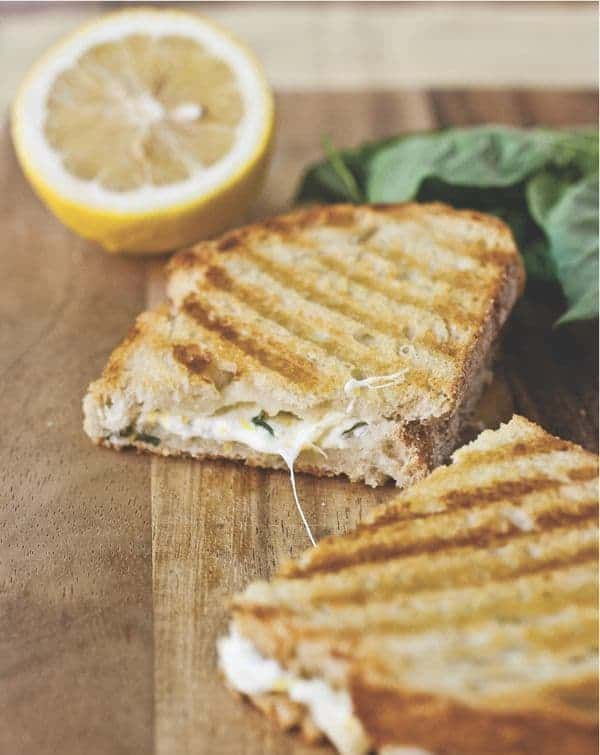 Lemon-Basil Grilled Cheese Panini - The Lemon Bowl